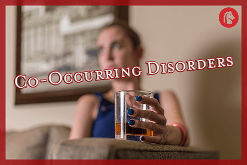 woman with a co-occurring disorder that involves alcohol abuse