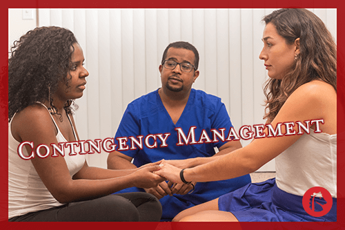 people and a doctor using contingency management therapy