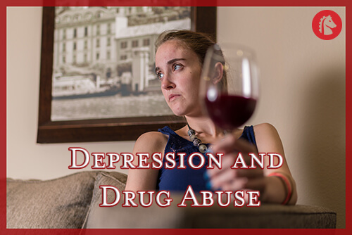 woman living with depression and drug and alcohol abuse