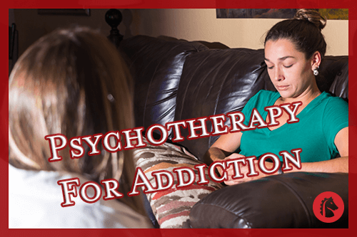 woman talking to psychotherapist to help with her addiction problems