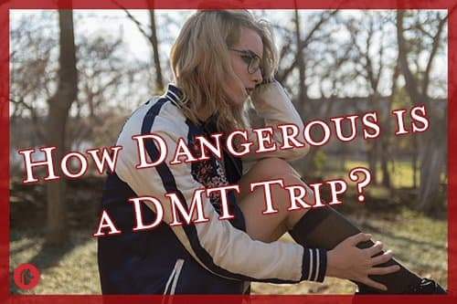 Woman thinking about the dangers of a DMT trip