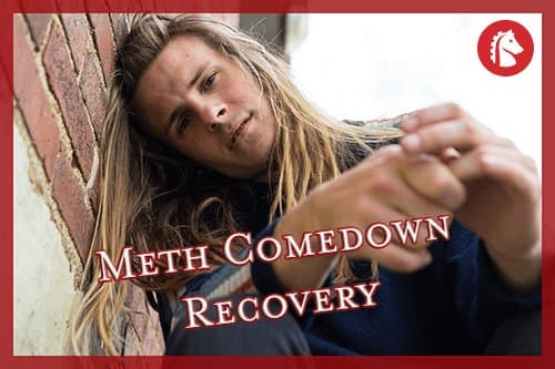 Person experiencing the meth comedown and withdrawal symptoms