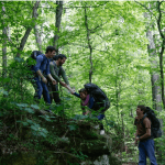 patients hiking at oxford treatment center